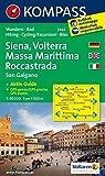 Carta escursionistica n. 2462. Siena, Volterra, Massa Marittima, Rocca Strada. Adatto a GPS. DVD-ROM. Digital map