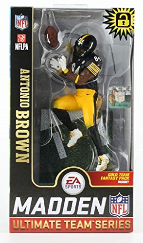 Antonio Brown (Pittsburgh Steelers) Surprise Chase Figure EA Sports Madden NFL 19 Ultimate Team Series 1 McFarlane