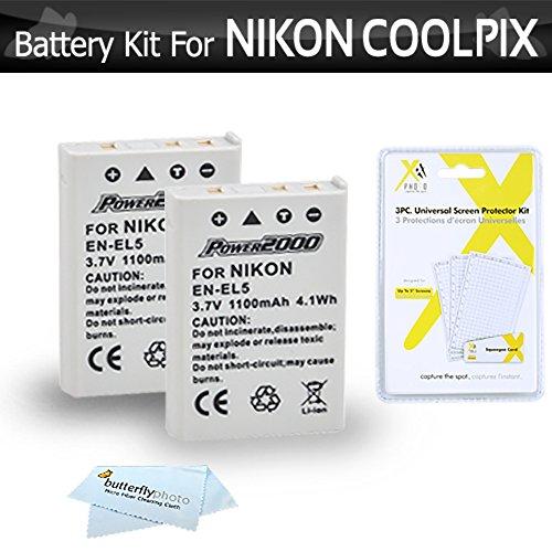 2 Pack Battery Kit For Nikon COOLPIX P100 P500 P510 P520 ...