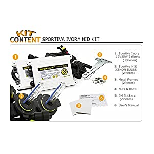 2013 - 2015 Dodge Ram 1500 2500 3500 w/ Projector Headlight 9012 AC 55W Ivory Xenon HID Conversion Kit With CANBUS Fix (6000K Pure White)