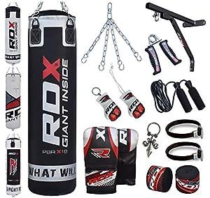 RDX Boxsack Set Gefüllt Kickboxen MMA Muay Thai Boxen mit wandhalterung...