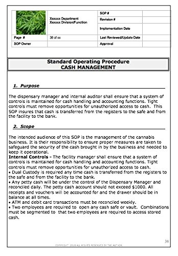 Standard Operating Procedures For Cannabis Dispensaries Robert Carp Esq Douglas Carp 9781513635613 Amazon Com Books