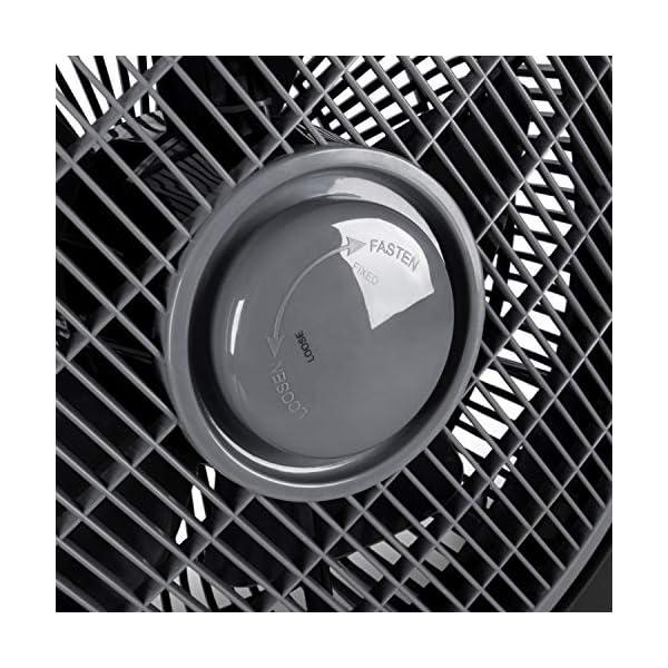 51lp8I5GY1L Tecvance, Schwarz Box Fan Ventilator (32 cm) -Raumventilator mit 4 Stufen und Timer, Kleiner, leiser & leistungsstarker…