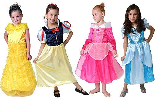 Classic Storybook Princess Dress 4 Pack Set, Size 4/6 (Storybook Belle Costume)