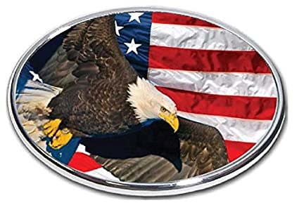 American Blad Eagle Falg FabProductsRus.com American Eagle Flag Trailer Hitch Cover 2 Hitch Receiver 3//8 Inch Thick High Grade Aluminum Size Measures 4 X 6 3