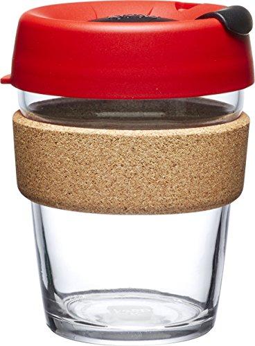 KeepCup Brew Glass Reusable Coffee Cup, 12 oz, Ladybug