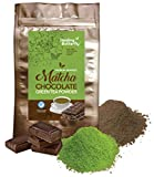 Chocolate Matcha Green Tea Powder, Detoxify and Cleanse Your Body With Organic Japanese Premium Matcha, Cacao, and Probiotics, Boosts Your Metabolism And Tastes Great, [91.25g, 3.2oz, 25 Servings] For Sale