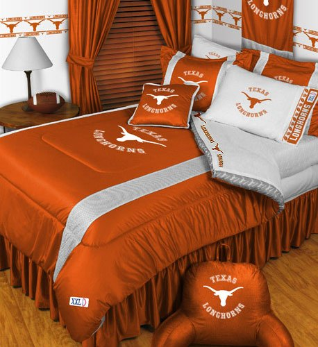 NCAA Texas Longhorns - 4pc BEDDING SET - Twin/Single Size by NCAA