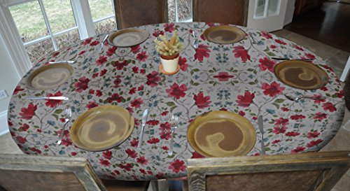 Elastic Edged Flannel Backed Vinyl Fitted Table Cover WAT...