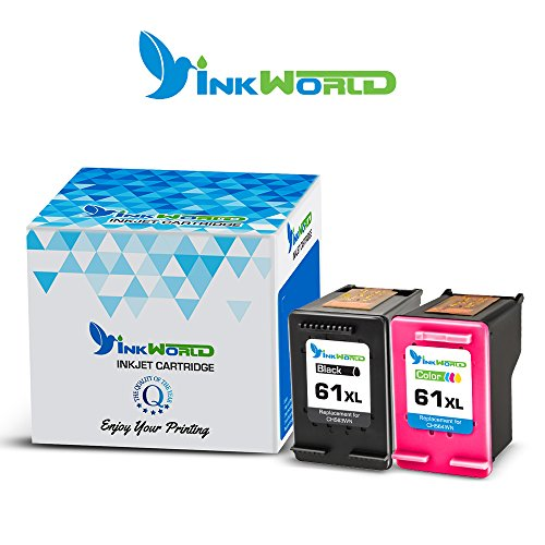 Inkworld Remanufactured Ink Cartridge Replacement for HP 61 HP 61XL Combo High Yield (1 Black, 1 Color) for HP Envy 4500 5530 5534 5535, HP Deskjet 1000 1010 1512 3050, HP Officejet 4630 2620 4632 Photo #5