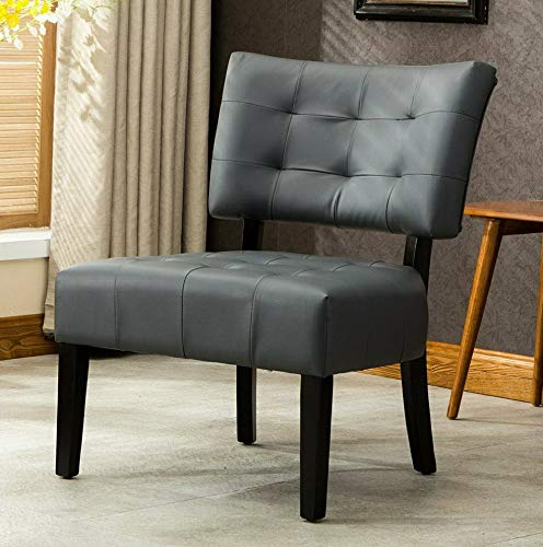 Amazon.com: Hebel Blended Leather Tufted Oversized Accent ...