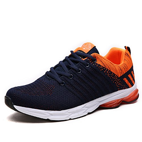 NEOKER Trainers Mens Womens Lightweight Breathable Sports Running Athletic Shoes Casual Sneakers Multicolor 36-46 Orange a5O1g