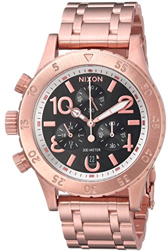 Nixon Women's '38-20 Chrono' Quartz Stainless Steel Automatic Watch, Color:Rose Gold-Toned (Model: A4042361-00)