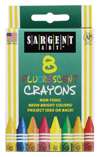 Sargent Art 35-0535 8-Crayons, Peggable and Fluorescent -