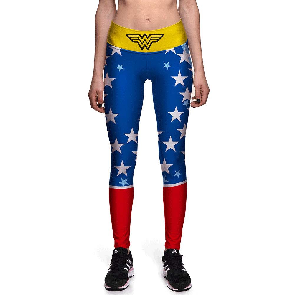 8becdbc5f50866 Amazon.com: Xize Women 3D Printed Wonder Workout Fitness Leggings Slim Yoga  Pants High Waist Gym Running Sport Push Up Tights: Clothing