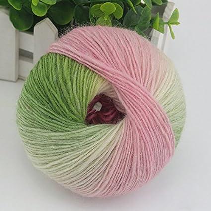 Amazon Kicode 1pc 54g Rainbow Wool Cotton Yarn Bamboo Protein