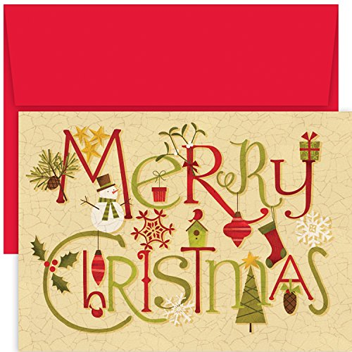 Masterpiece Studios Hollyville Greetings Boxed Cards, Crackle Christmas, 18 Cards/18 Envelopes (Crackle Studio)