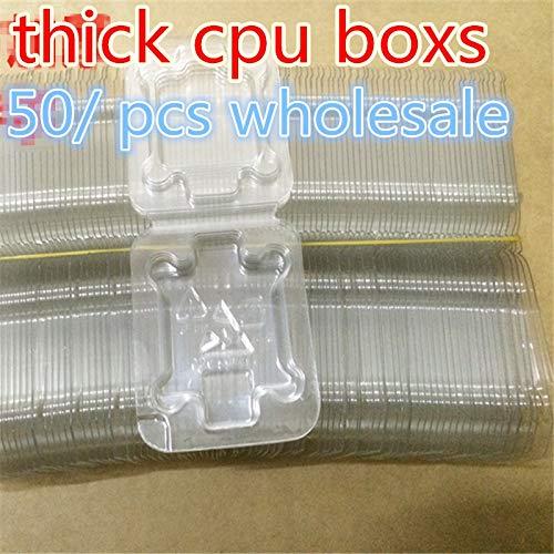 Socket 775 Set Chip (ShineBear 50 pcs case, for Intel CPU LGA 771 775 1150 1155 i3 i5 i7 Socket CPU Clamshell Case CPU IC Chipset Protection Box - (Cable Length: 50pcs))