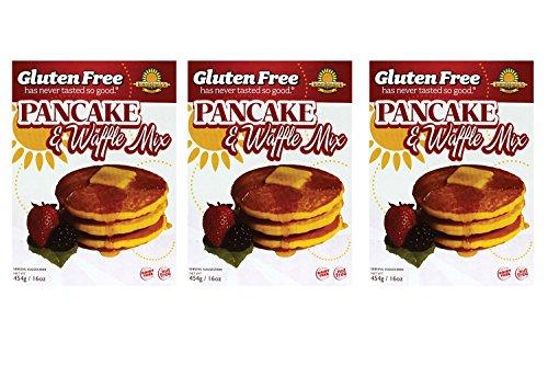 Kinnikinnick   Gluten Free Pancake & Waffle Mix 16 Oz [3 Pack]