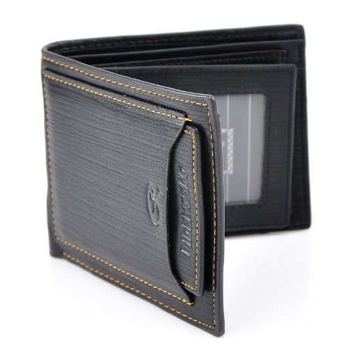 Stylish Men Leather Wallet Pocket Money Purse Id Credit Card Clutch Bifold Black