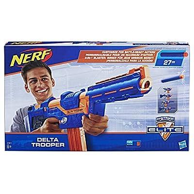 NERF E1911EU4 N-Strike Elite Delta Trooper Blaster, Multi-Colour, One Size: Toys & Games
