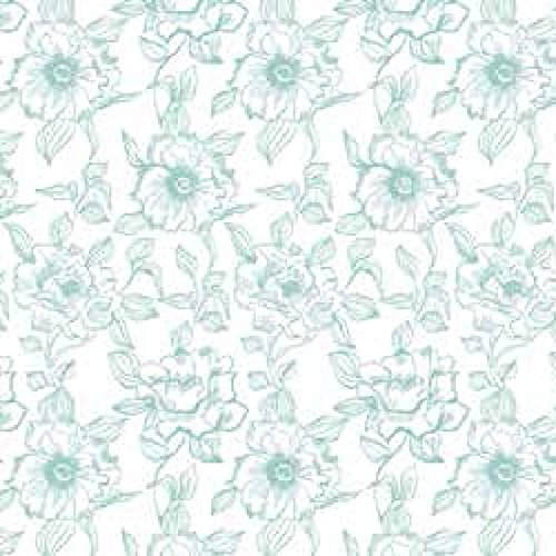 Magic Cover Self-Adhesive Vinyl Contact Paper, Shelf and Drawer Liner, 18-inches by 20-Feet, English Rose Blue