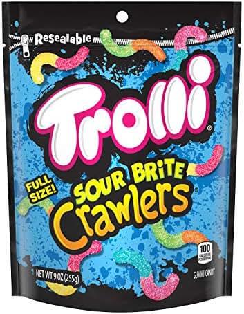 Gummy Candies: Trolli Sour Brite Crawlers Minis
