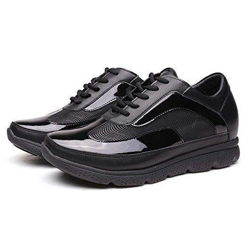 Chamaripa Fashion Sneakers Hoogte Toenemende Schoenen Liftschoenen Voor Heren 2,76 Inch H72x63k021d Zwart