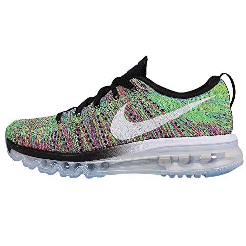 Nike Flyknit Air Max Dames Hardloopschoenen 620659 Sneakers Schoenen Zwart / Wit-roze Pow-chloorblauw / Multicolor