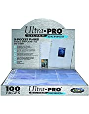 Ultra Pro Silver Series 100/9 Pocket Page Protectors - 1 Pack, Blue (074427814427)