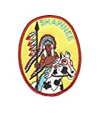 "Shawnee ""Indian"" Patch - Native American with Headdress and Horse (Iron On)"
