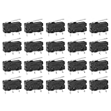 micro power switch - uxcell 20Pcs G605-150S01A SPDT 1NO 1NC Long Hinge Lever Momentary Plastic Micro Limit Switch
