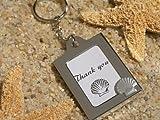 Memorable Moments Seashell Keychain Photo Frame Favor (1) by FavorWarehouse