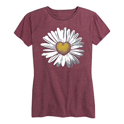 - Daisy Heart - Ladies Short Sleeve Classic Fit Tee