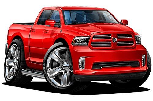 - 2015-2017 Dodge Ram 1500 Sport 2ft long Wall Graphic Decal Sticker Man Cave Garage Decor Boys Room Decor