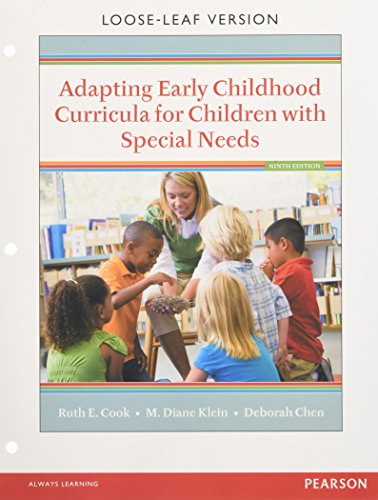134019415 - Adapting Early Childhood Curricula for Children with Special Needs, Enhanced Pearson eText with Loose-Leaf Version -- Access Card Package (9th Edition)