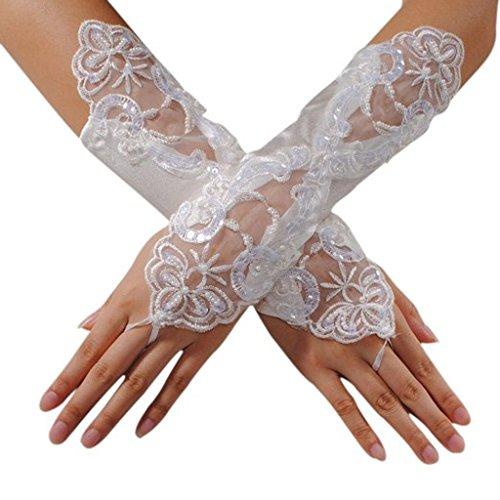 Ivory Fingerless Gloves - 9