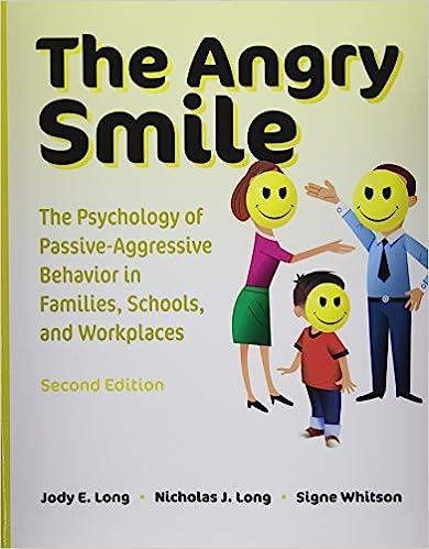 Fixing passive aggressive behavior