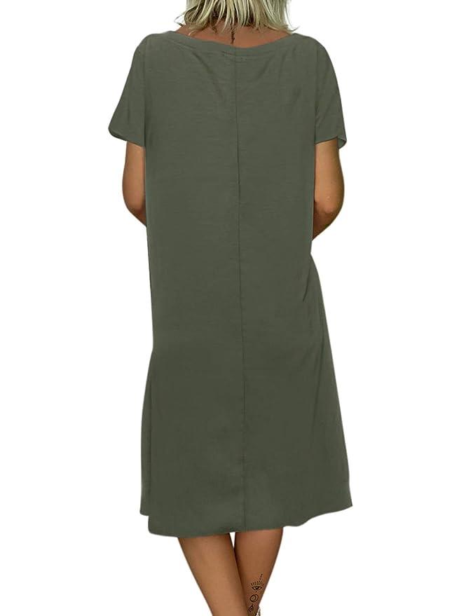 Aleumdr Mujer Vestido Cintura Alta Faldas Cortas a Rayas Vestido de Blusa Sin Mangas Falda de Mujer Size S-XL