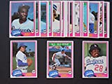 Los Angeles Dodgers 1981 Topps Baseball Master Team Set (World Champions) with year-end Traded Cards (31 Cards)***(And Receive a FREE Sandy Koufax 1957 REPRINT Card)*** Dusty Baker, Joe Beckwith, Ron Cey, Joe Ferguson, Terry Forster, Steve Garvey, Pedro Guerrero, Mickey Hatcher, Burt Hooton, Steve Howe, Jay Johnstone, Ken Landreaux, Rudy Law, Dave Lopes, Rick Monday, Doug Rau, Jerry Reuss, Bill Russell, Reggie Smith, Rick Sutcliffe, Don Sutton, Fernando Valenzuela, Bob Welch, Steve Yeager.