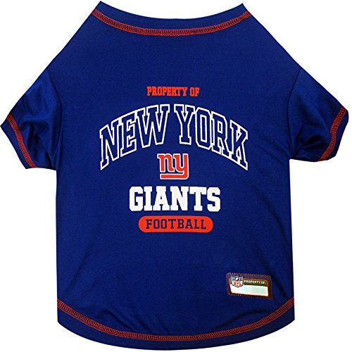 NFL NEW YORK GIANTS Dog T-Shirt, X-Large. - Cutest Pet Tee Shirt for the real sporty pup