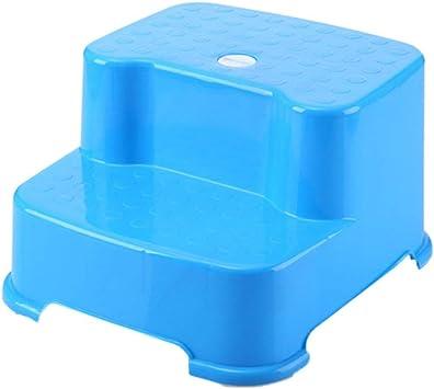 AFDK Taburete de 2 peldaños Taburete de plástico para niños Lavado de manos Banco de banco pequeño para bebé Taburete de escalera con peldaños,Azul: Amazon.es: Bricolaje y herramientas