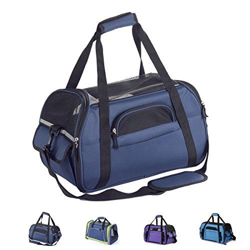 Zedelmaier Faltbare Hundetasche, Hundetragetasche, Katzentragetasche, Transporttasche Transportbox für Hunde und Katzen