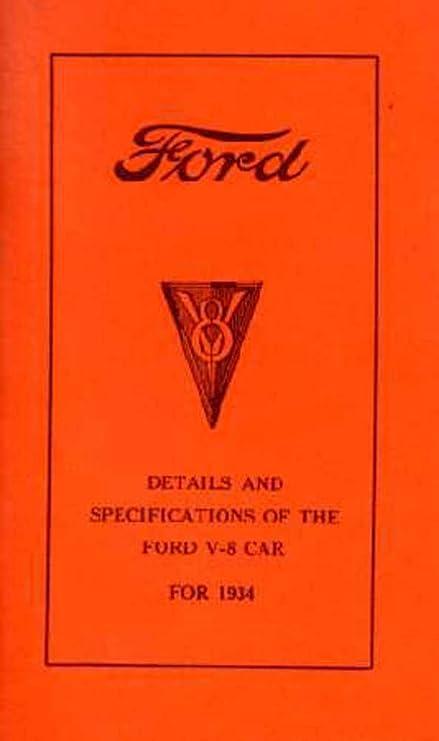 Amazon com: bishko automotive literature 1934 Ford V-8 V8 Car