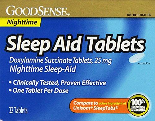 GoodSense Sleep Aid Doxylamine Succinate tablets, 25mg,
