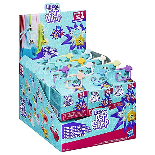 Littlest Pet Shop Blind Box Tiny Surprise Pet Clips Series 2 Collection Box of 24 (Littlest Pet Shop Blind Bags Series 4)