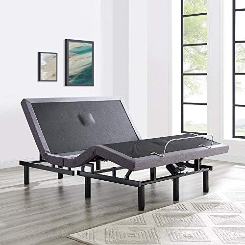 Naomi Home idealBase Adjustable Massage Bed Base Wireless Remote Queen/Gray