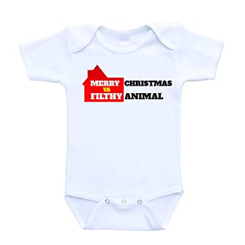 merry christmas ya filthy animal christmas baby bodysuits onesies 24 months - Merry Christmas Ya Filthy Animal Onesie