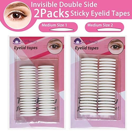 Double Eyelid Tapes,240Pairs instant eyelid lift strips for hooded droopy eyes, eye tape stickers for 24h stay, Self-Adhesive (Best Double Sided Eyelid Tape)