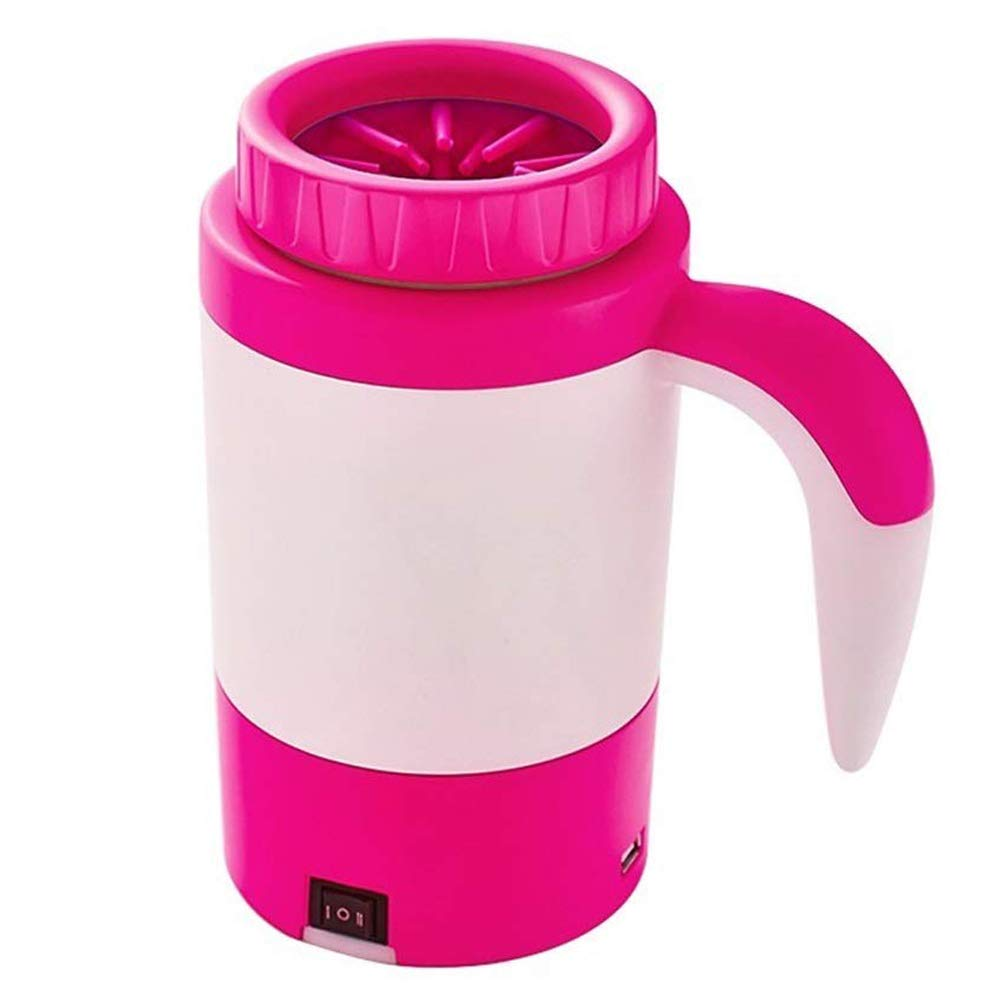 Dog Paw Cleaner,Automatic Portable Foot Washing Pet Electric Washer Cup,Pink,18.621.3cm